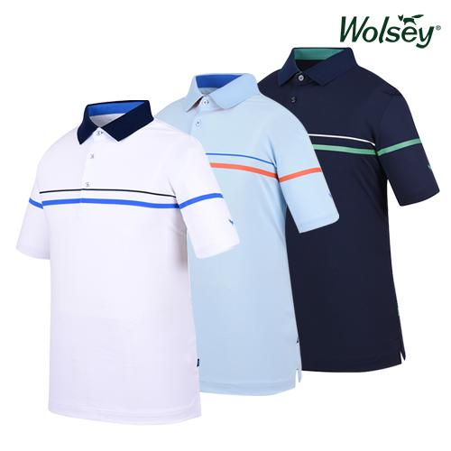 울시(wolsey) 남성 골프 반팔티셔츠 W62MTP59D 3종 택1