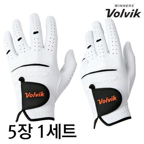 (5장1세트)볼빅정품 남성용 왼손 골프장갑 (양피)