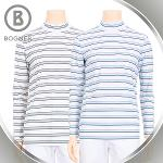 보그너 BOGNER 남성 스판소재 스트라이프 냉감 기능성 목폴라 긴팔티셔츠 - BN-01-172-101-04