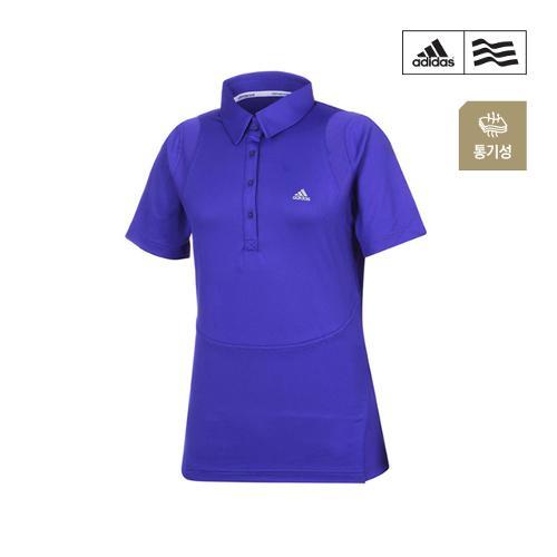 [아디다스골프] 여성 스포티 솔리드 카라 티셔츠 B87079_GA