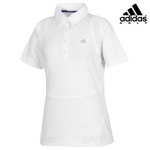 [아디다스골프] 여성 스포티 솔리드 카라 티셔츠 B87075_GA