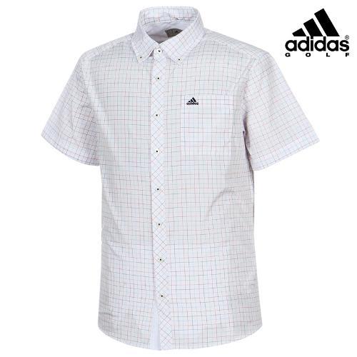 [아디다스골프] 남성 체크 배색 카라 셔츠 AN5490_GA