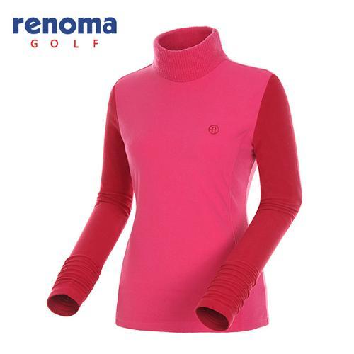 [레노마골프]여성 컬러 슬리브 하이넥 티셔츠 RATS82461-PK