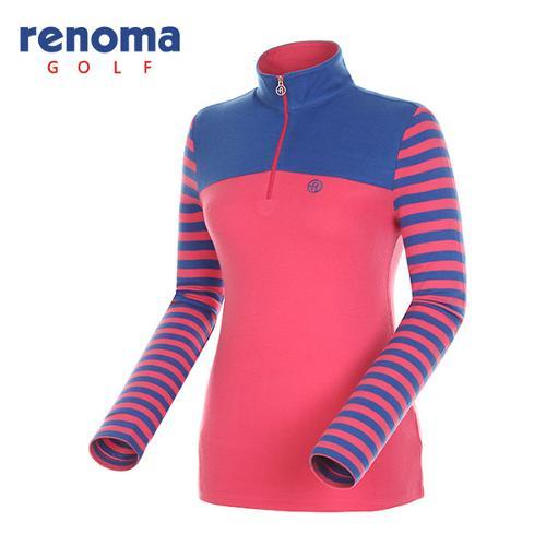 [레노마골프]여성 배색 요크 슬리브 티셔츠 RATS73461-PK