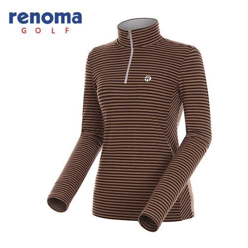 [레노마골프]여성 스트라이프 집업 티셔츠 RATS72461-BR
