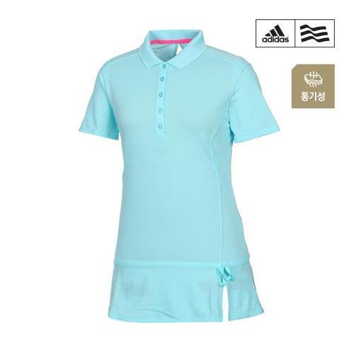 [아디다스골프] 여성 플레어 롱 카라 티셔츠 B82716_GA