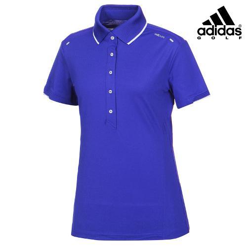 [아디다스골프] 여성 카라 심플 배색 티셔츠 B86997_GA