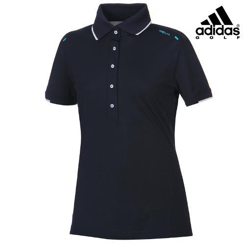 [아디다스골프] 여성 카라 라인배색 티셔츠 B86998_GA