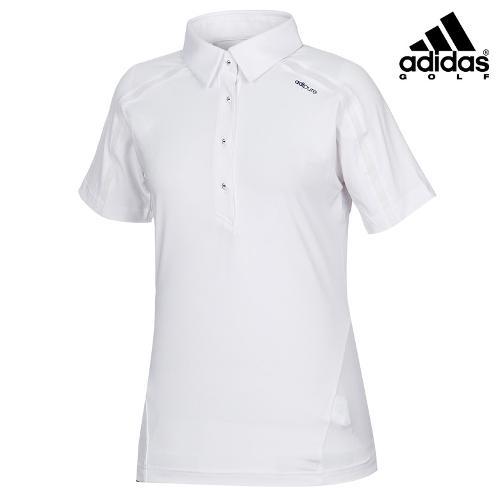 [아디다스골프] 여성 매쉬 배색 카라 티셔츠 B86999_GA