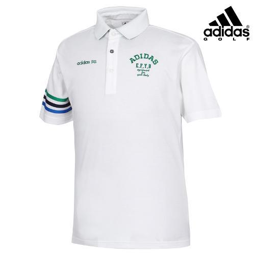 [아디다스골프] 남성 배색 프린팅 카라 티셔츠 A03970_GA
