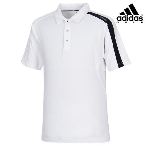 [아디다스골프] 남성 심플 배색 카라 티셔츠 B87432_GA