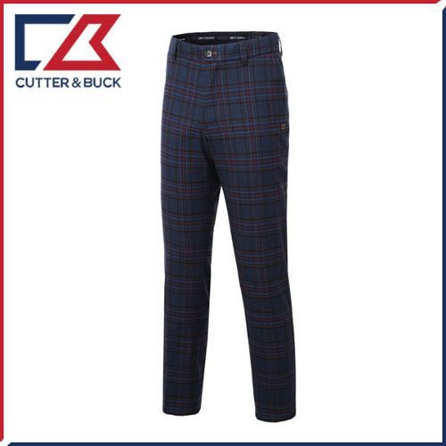 커터앤벅 남성 노턱 스판소재 체크무늬 골프바지/팬츠 - SL-11-154-104-22