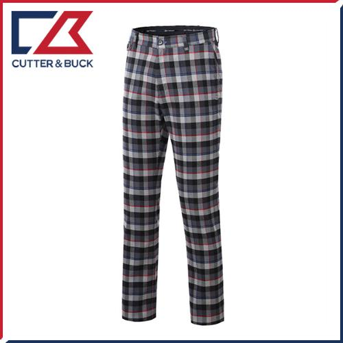 커터앤벅 남성 노턱 스판소재 체크무늬 골프바지/팬츠 - SL-11-154-104-21