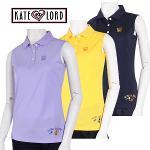 케이트로드 자수포인트 베이직 여성 민소매 티셔츠