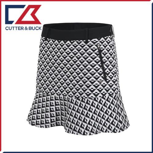 커터앤벅 여성 스판소재 패턴포인트 큐롯 치마/스커트 - PB-11-163-205-23