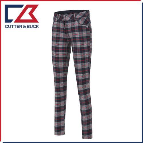 커터앤벅 여성 스판소재 체크 패턴포인트 골프바지/팬츠 - PB-11-163-204-24