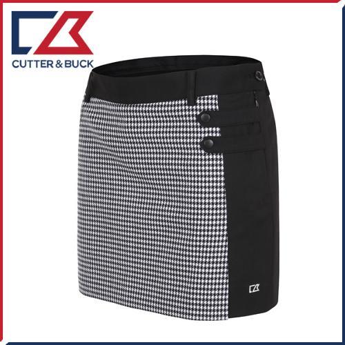 커터앤벅 여성 스판소재 배색 체크무늬 큐롯 치마/스커트 - PB-11-163-205-25