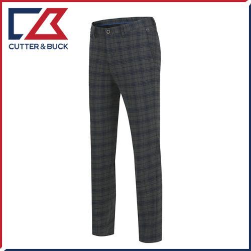 커터앤벅 남성 노턱 면소재 체크무늬 골프바지/팬츠 - PB-12-163-104-55