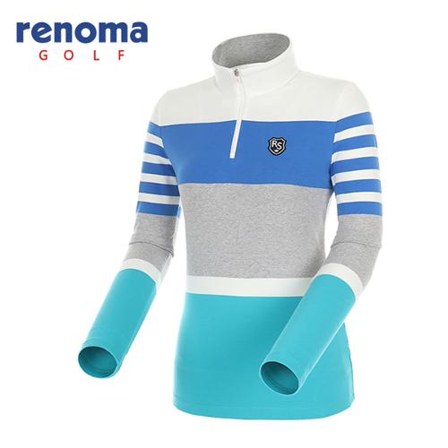 [레노마골프]여성 스트라이프 반집업 티셔츠 RATS57541-OW