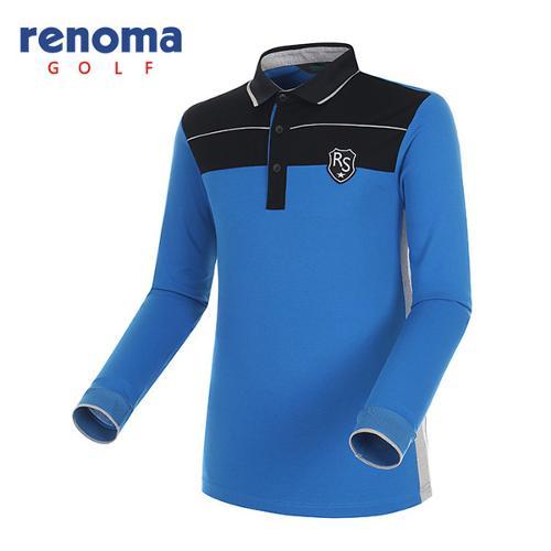 [레노마골프]남성 와펜 패치 컬러블록 티셔츠 RATS03541-AB