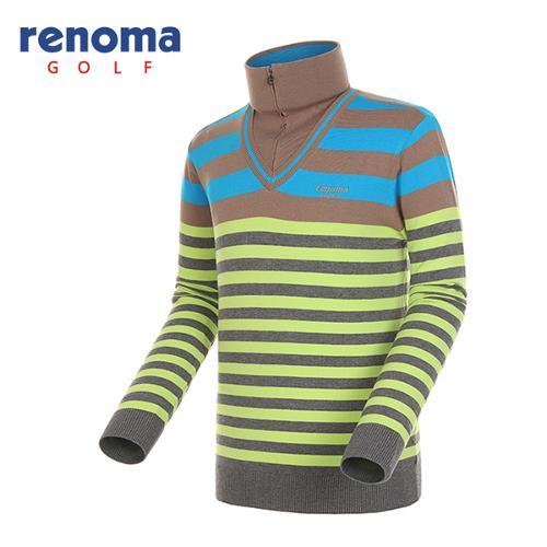 [레노마골프]남성 하이넥 레이어드 티셔츠 RAKP02441-BL