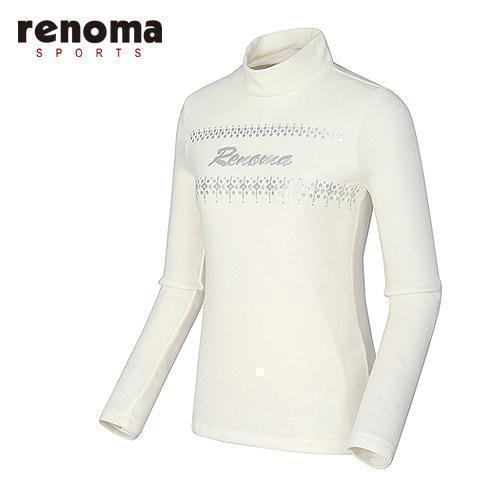 [레노마골프]여성 스팽글 자수 하이넥 티셔츠 RATS84561-OW