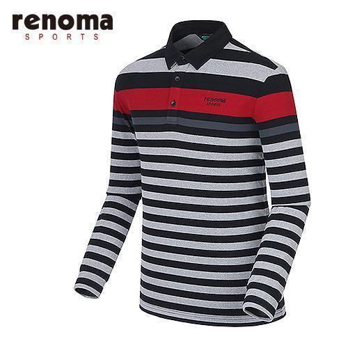[레노마골프]남성 라인 테크 배색 티셔츠 RATS24561-BK
