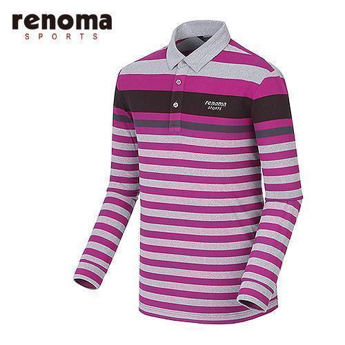 [레노마골프]남성 라인 테크 배색 티셔츠 RATS24561-PP