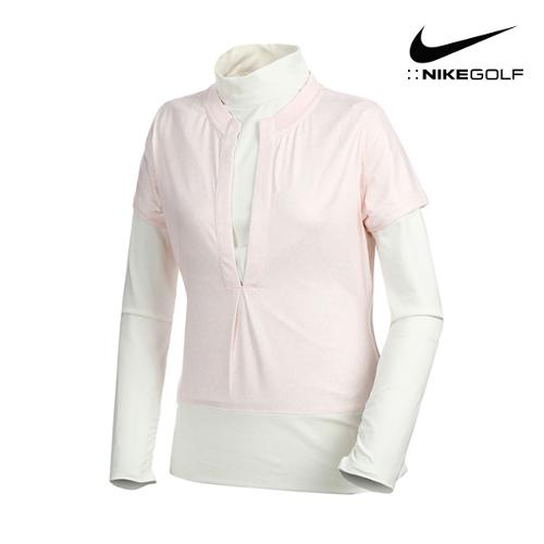 [나이키골프] 여성 터틀넥 배색 티셔츠 485699-642_GA