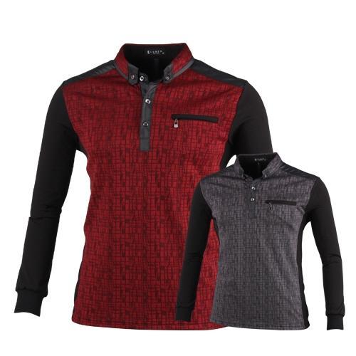 럭스골프 17년 F/W 유니크 패턴 어덜트 긴팔 티셔츠 BLU7A404