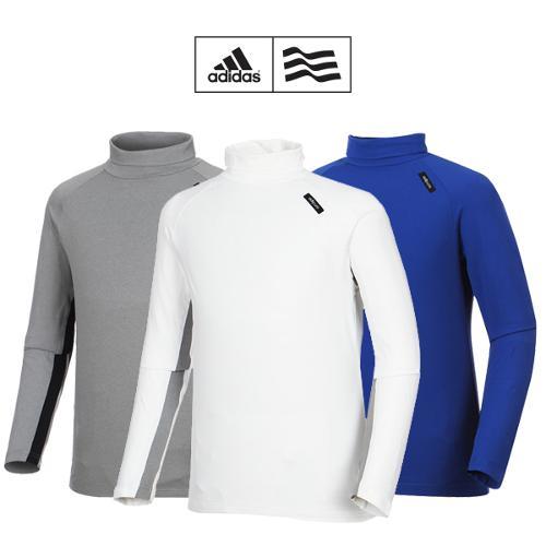 [아디다스골프] 남성 배색 라인 터틀넥 티셔츠 3종 택1_GA