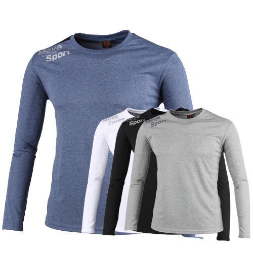럭스골프 긴팔 라운드 티셔츠 LA7A405