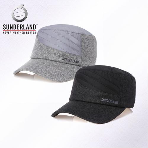 [Sunderland Of Scotland] 선덜랜드 남성 겨울 방한 퀼팅 배색포인트 군모스타일 속귀마개 모자- 16641CP13