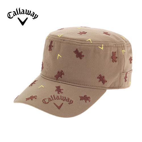 [캘러웨이]CGK 여성 베어 자수 패턴 밀리터리 캡 모자 CWGCF9053-509