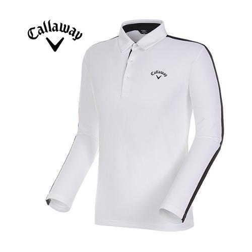 [캘러웨이]17FW 남성 라인 포인트 카라 티셔츠 CMTYG3151-100