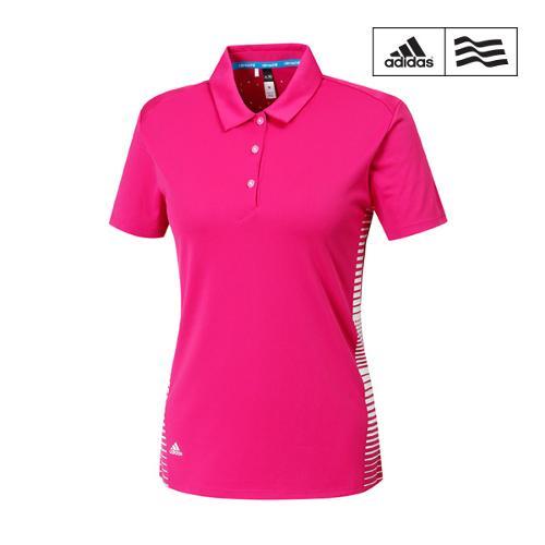[아디다스골프] 여성 프린트배색 카라넥 티셔츠 Z87298_GA