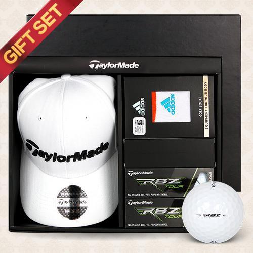 [테일러메이드]선물세트 투어레이더 골프캡+RBZ TOUR 6구 (3피스)골프볼+스포츠 앵클양말 1족