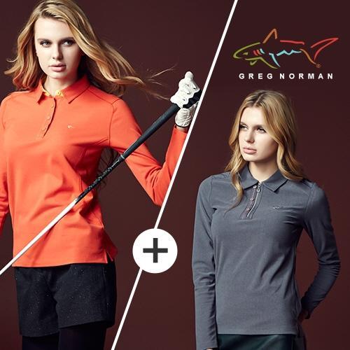그렉노먼 여성 웨어러블 테크 카라셔츠 1+1 BWG15TS