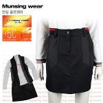 [일본수입정품] 먼싱웨어 SL7083-BK 허리밴딩 여성 골프스커트