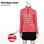 [일본수입정품] 먼싱웨어 SL1295-RD 프린팅 여성티셔츠