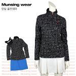 [일본수입정품] 먼싱웨어 SL1290-BK 집업 여성티셔츠