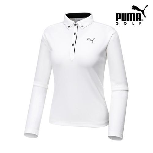 [푸마골프]  여성 골프 폴로 긴팔티셔츠 92347704_GA