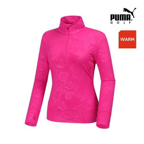 [푸마골프]  여성 블름 반짚업 팝오버 긴팔티셔츠 57224503_GA