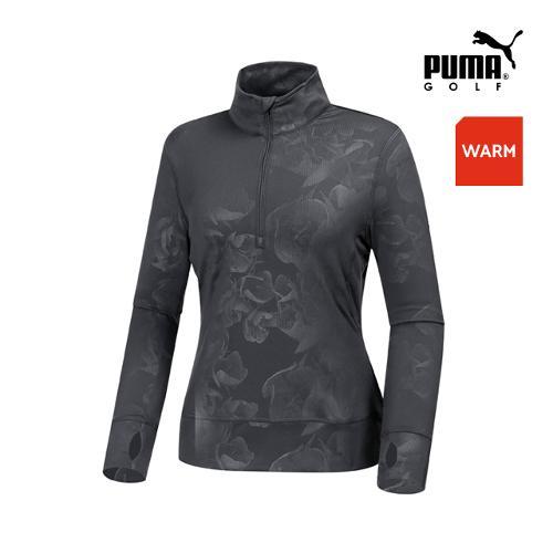 [푸마골프]  여성 블름 반짚업 팝오버 긴팔티셔츠 57224504_GA