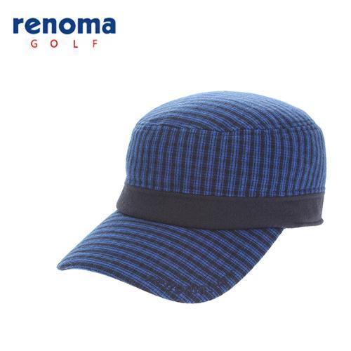 [레노마골프]남성 귀덮개 밀리터리 체크캡 모자 RCCP29561-BL