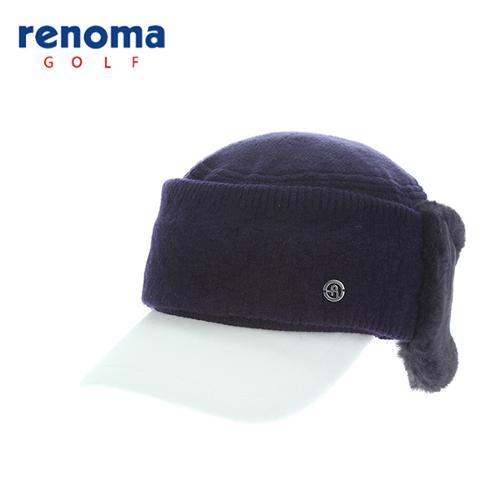 [레노마골프]여성 탈착 귀덮개 니트 믹스 캡 모자 RCCP81561-NY