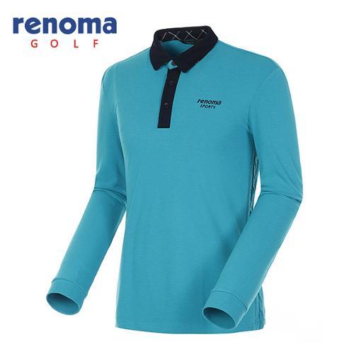 [레노마골프]남성 니트믹스 카라배색 티셔츠 RATS34561-TQ