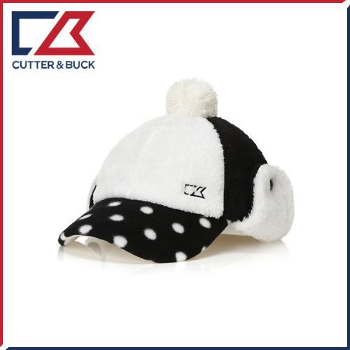 커터앤벅 여성 겨울 방한 도트 패턴포인트 방울 귀마개모자 - 14-174-214-83