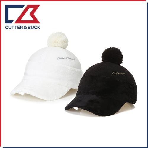 커터앤벅 여성 겨울 방한 자수 로고포인트 방울 속귀마개 모자 - 14-174-214-85