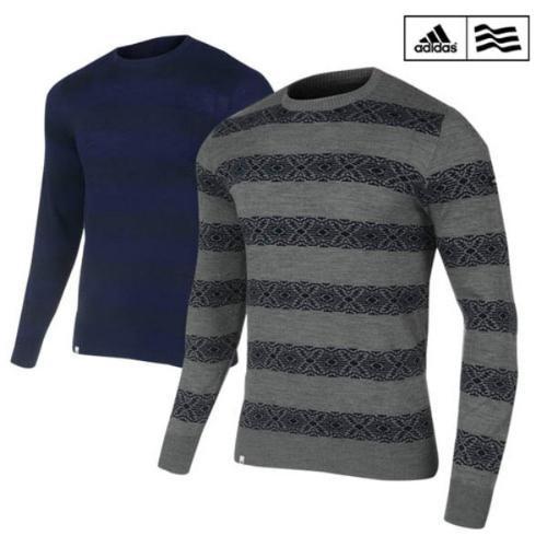 아디다스 남성 스웨터 풀오버 긴팔 티셔츠 A05281 A05282 골프웨어 골프의류 골프용품 ADIDAS